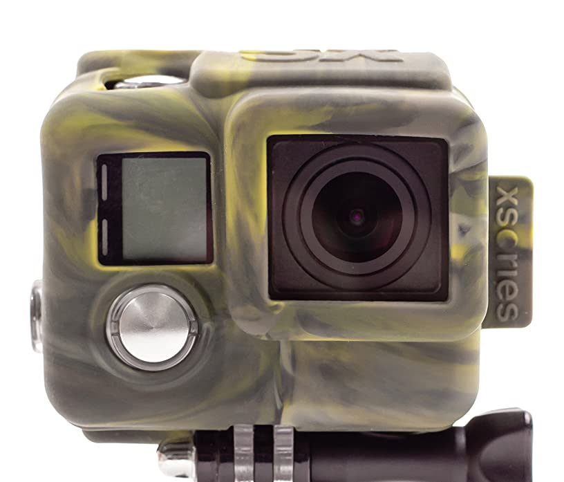 XSories Silicone Cover HD4, Housing Cover for GoPro 4, GoPro 4 Housing, GoPro Accessories, GoPro 4 Accessories (Camo)