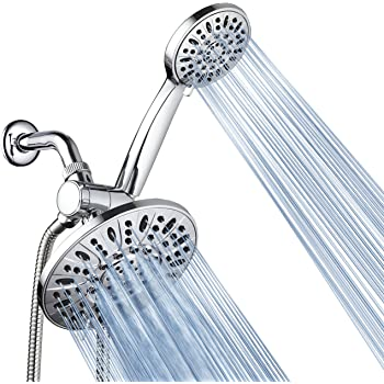 "AquaDance 7"" Premium High Pressure 3-Way Rainfall Combo for The Best of Both Worlds - Enjoy Luxurious Rain Showerhead and 6-Setting Hand Held Shower Separately or Together - Chrome Finish - 3328"
