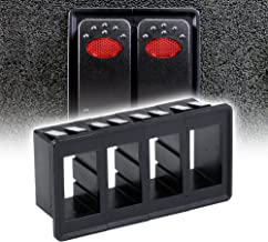 ONLINE LED STORE 4-Slot Rocker Switch Panel [Industry Standard Fit] [Heavy Duty] [Expandable Design] [Professional Look] Automotive Mount Toggle Switch Housing