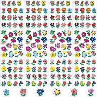 192 Pièces Autocollants de Fleurs de Printemps pour Décorations de Printemps, Autocollants de Scrapbooking, Autocollants d...