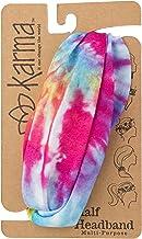 Karma Gifts Half Headband, Multi Color Tie Dye