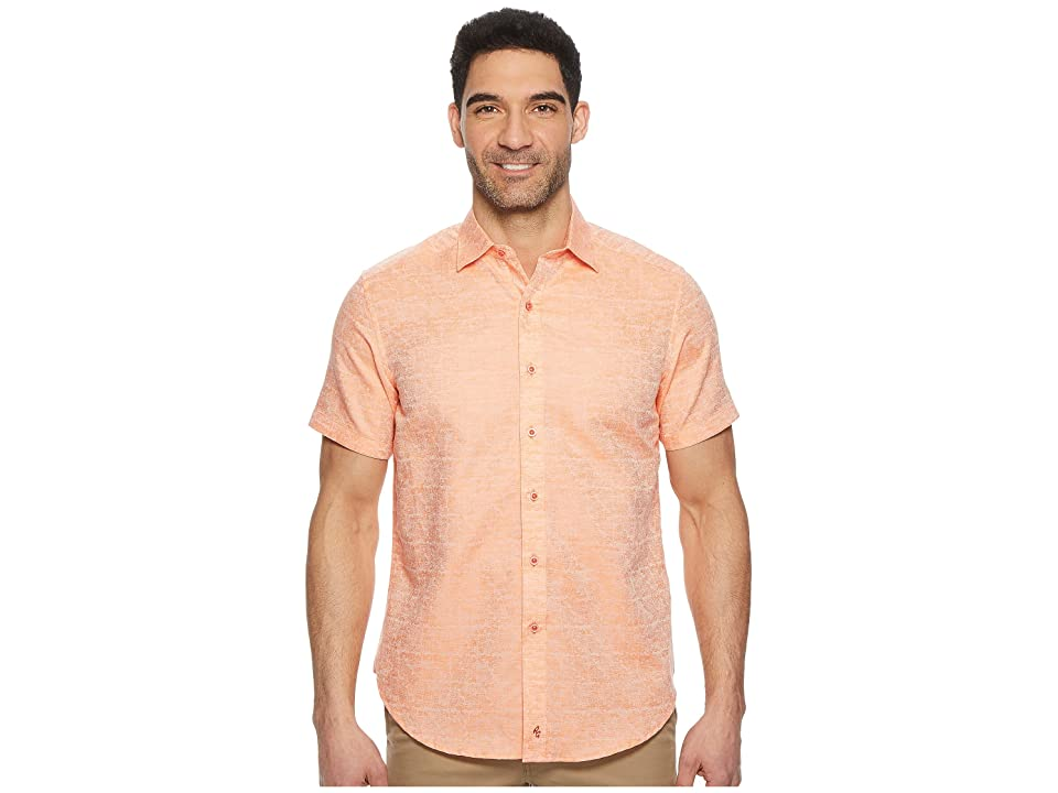 Robert Graham Cyprus Short Sleeve Woven Shirt (Orange) Men's Clothing