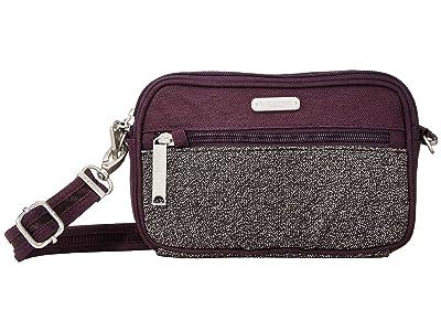 Baggallini Securtex Anti Theft Festival Bag (Blackberry Antitheft) Cross Body Handbags