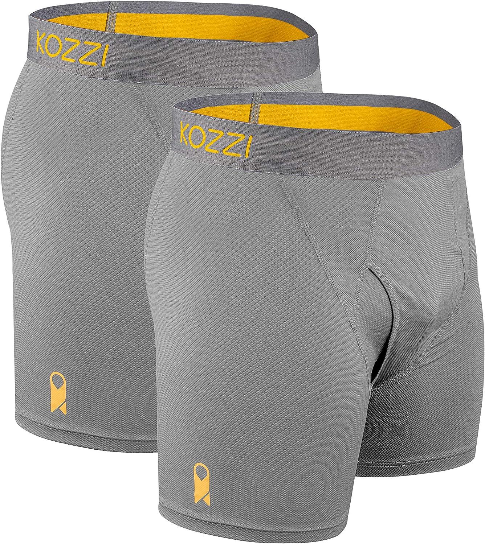 Latest item Kozzi Men's Boxer Briefs Premium Nylon Soft Sale Special Price Breathable for Ever