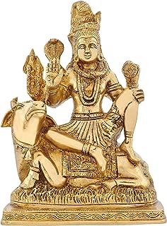 ShalinIndia Home Décor Shiva Statue Golden
