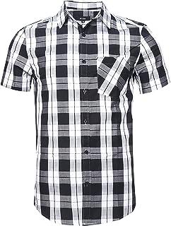 69fa36f0b8 NUTEXROL Camisas de Hombre Camisa a Cuadros Camisas de Vestir, Casual,  Cómodo y Moderno