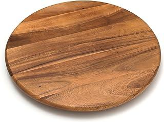 "Lipper International 1118 Acacia Wood 18"" Lazy Susan Kitchen Turntable"