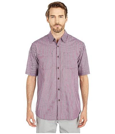 Dickies Short Sleeve Woven Shirt (Wine Mini Check) Men