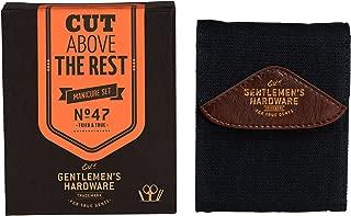 Gentlemen's Hardware 5-Piece Stainless Steel Men's Manicure Kit with Canvas Case