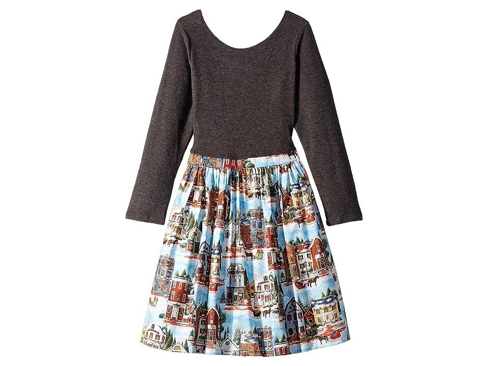 fiveloaves twofish Christmas Village Abbie Dress (Toddler/Little Kids/Big Kids) (Black) Girl