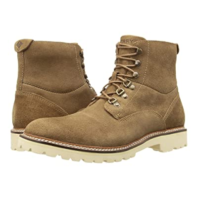 Sperry Gold Cup Lug Lace Boot (Tan Suede) Men