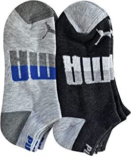 Puma - Boys' P105434-037 Low-Cut 6-Pack Socks, Gray Assorted 9-11