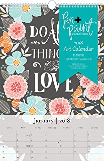 Summit 2018 Art Wall Calendar, 16 Months, 12 x 18.38 inches (98018)