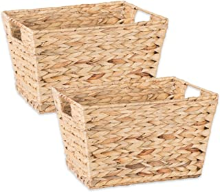 DII Z02006 Natural Water Hyacinth Storage Basket with Handles