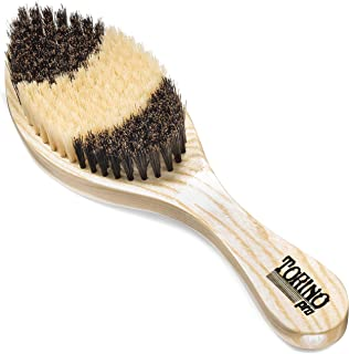 Torino Pro Soft Curve Brush By Brush King - #1650 - Patented Duet Collection- Different color on each side - Great for wolfing and Connections - Curved brush for 360 Waves