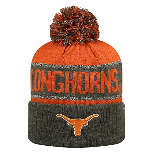 f62008014c7 Top of the World Texas Longhorns NCAA Ambient Cuffed Knit Hat with Pom
