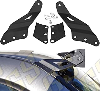 GS Power's Roof Cab Upper Windshield Mount Curved LED Light Bar Brackets (choice of 50 | 52 | 54 inch) Compatible with 1999-2006 Chevrolet Chevy Silverado Avalanche Suburban Tahoe & GMC Sierra Yukon