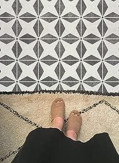 Pinwheels Tiles Stencil - Decorative Floor Tiles for Painting - DIY Tiled Floor Pattern - Kitchen or Bathroom Flooring Tiles Stencil Design (Large 12