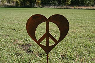 peace sign garden art