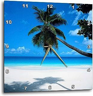 3dRose dpp_50951_1 Tropical Paradise Awaits Wall Clock, 10 by 10-Inch