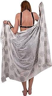 Boho Chic Pareo - Mandala Pareo - Bikini Swimsuit Cover Up- Beach Dress - Wrap (Blue)