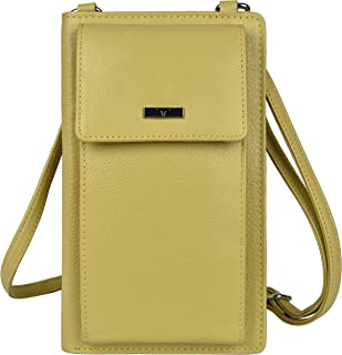 Urban Forest Ruby Yellow Leather Sling Wallet for Women