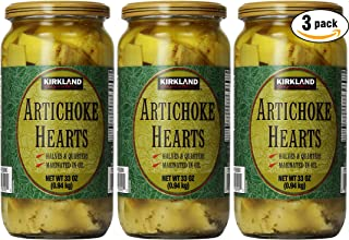 Kirkland Signature Artichoke Hearts, 33oz Jar (Pack of 3, Total of 99 Oz)