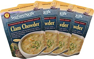 Clam Chowder – Sea Fare Pacific, 4 pack, gluten free, ready to eat, convenient..