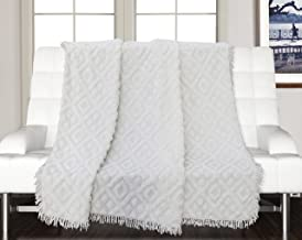 Saral Home 100% Cotton Decorative Tufted Sofa Cover-140x160 cm, Ivory