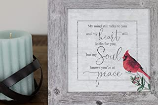 Summer Snow My Mind Still Talks to You Heart Still Looks for You Soul Knows Your at Peace Framed Decor Art Picture Sign