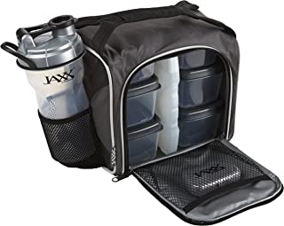 Fit & Fresh Original Jaxx FitPak Insulated Meal Prep Bag with Portion Control Containers Standard Silver 944FFJXGRY-Gray-S...