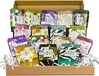 Handmade Soap Set - 8 Piece Variety Pack, Luxury Bath Soap Gift Box for Men, Women and Teens - Natural Scented Bar Soap fo...