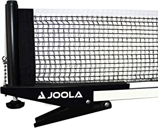 """JOOLA Premium Inside Table Tennis Net and Post Set - Portable and Easy Setup 72"""" Regulation Size Ping Pong Spring Clamp Net, Black"""