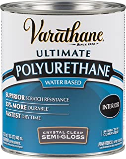 Rust-Oleum 200141H Water-Based Poleurethane, 1-Quart, Semi-Gloss Finish