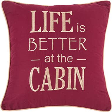 C&F Home Life is Better at The Cabin Pillow Decorative Throw Pillow Rustic Lodge for Couch Chair Living Room Bedroom 18 x