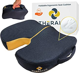 Luxury Foldable Travel Seat Cushion - Sciatica Pillow for Sitting Ergonomic Portable Airplane Car Seat Road Trip Essential...