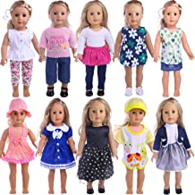 JHTY 5 Sets of Doll Clothes for 18 inch American Doll Girl (Random)