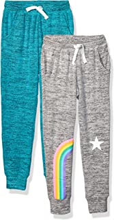 Amazon Brand - Spotted Zebra Girl's Toddler & Kid's 2-Pack Cozy Knit Joggers