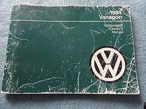 1984 VW Vanagon Owners Manual Volkswagen