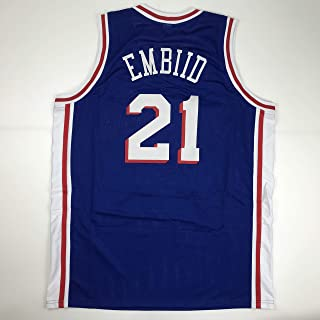Unsigned Joel Embiid Philadelphia Blue Custom Stitched Basketball Jersey Size Men's XL New No Brands/Logos