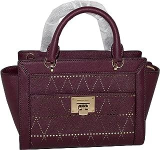 Women's TINA Small Top Zip Messenger leather shoulder Handbag