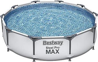 Bestway - Schwimmbad Steel Pro - 305x76 cm - Rund - 4.678L - Grau