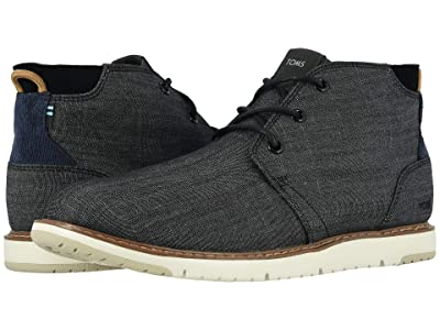 TOMS Navi (Black Crosshatch Denim) Men
