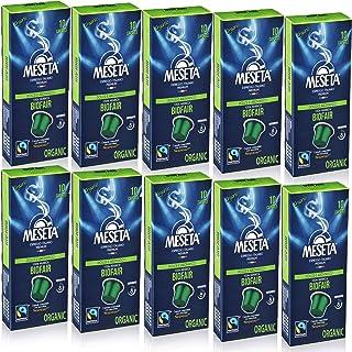Meseta ネスプレッソに使用できるコーヒーカプセル グルメ有機 (ヨーロッパで認定) 100カプセル 100%アラビカコーヒーエスプレッソ ネスプレッソ器具で使用可能