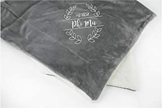 Phi Mu Sorority Sherpa Throw Blanket