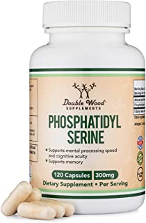 Sponsored Ad - PhosphatidylSerine 300mg Per Serving, Made in the USA, 120 Capsules (Phosphatidyl Serine Complex) by Double...