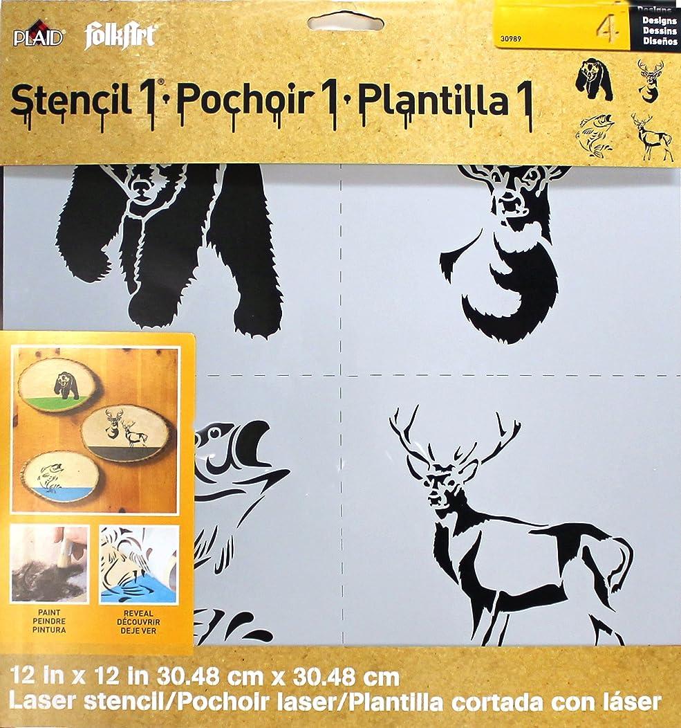 FolkArt Laser Stencil, 30989 Nature
