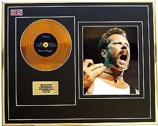 EC Metallica/Mini Metal Gold DISC & Photo Display/Limited Edition/COA/Master of Puppets