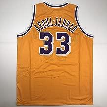 Unsigned Kareem Abdul-Jabbar Los Angeles LA Yellow Custom Stitched Basketball Jersey Size Men's XL New No Brands/Logos