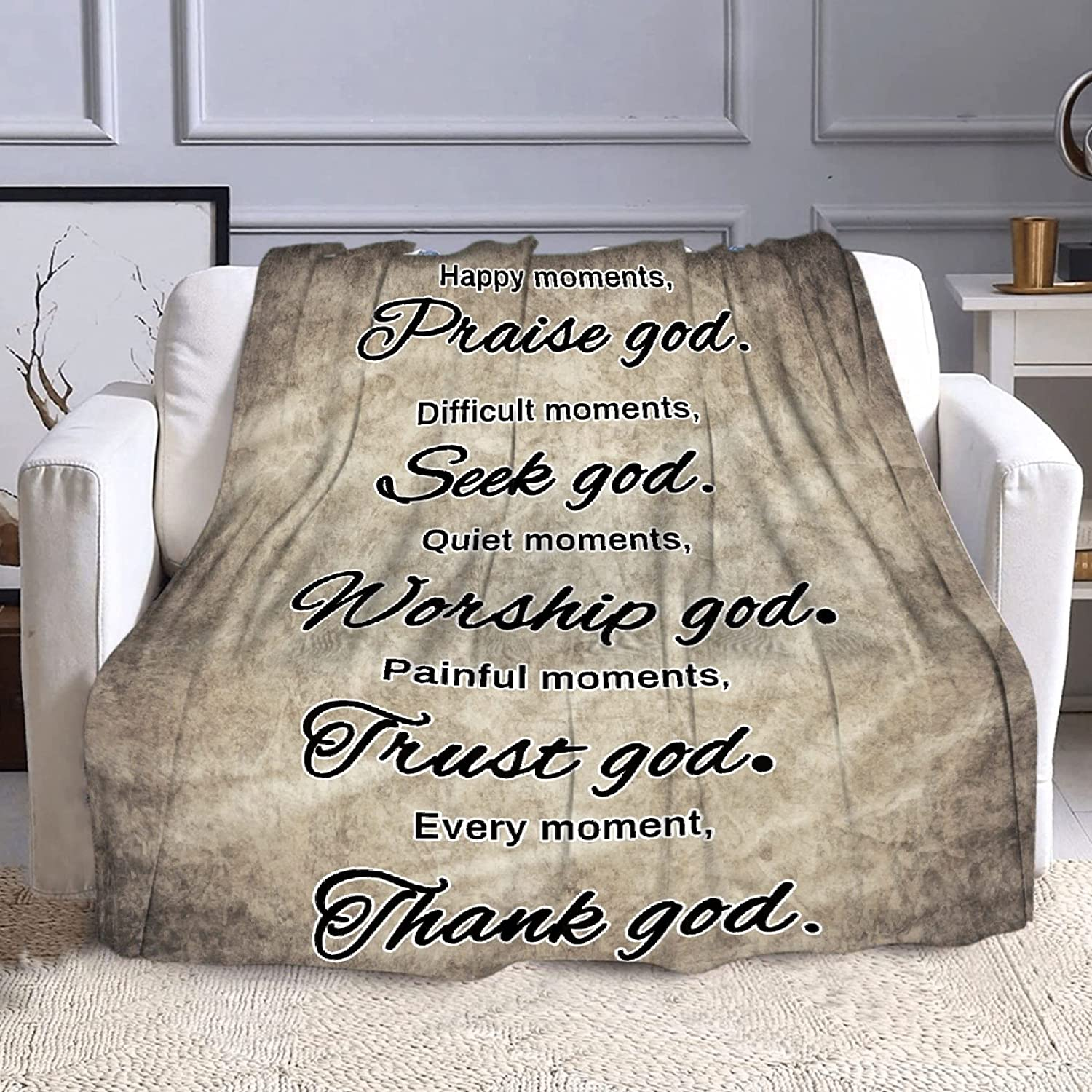Microfiber Flannel Throw Blanket Thoughts Inspirational OFFicial Healing Max 52% OFF